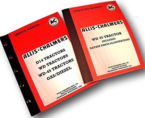 Tractor Service Repair Manuals with Operators and Parts Catalog Set Shop (All Is Chalmers Service Manuals)