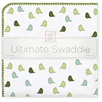 SwaddleDesigns Ultimate Swaddle Blanket, Made in USA, Premium Cotton Flannel,...