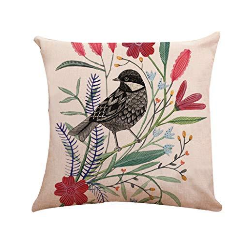 Alimao 2019 New Cotton Linen Square Fashion Home Decorative Throw Pattern Pillow Case Sofa Waist Cushion Cover -