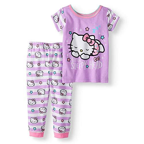 Hello Kitty Baby Girl Cotton Tight Fit Pajamas, 2 pc Set (12 mos)]()
