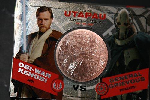 2015 Star Wars Chrome Perspectives Jedi vs. Sith Trading Cards Bronze Medallion Obi-Wan Kenobi vs. General Grievous UTAPAU Fight Poster Version