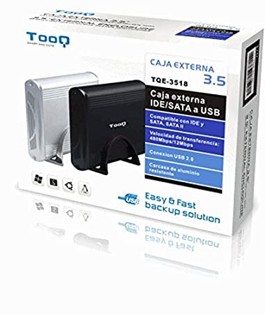 TooQ TQE-3518B - Carcasa para discos duros HDD de 3.5