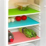 Yellow Weaves PVC Big Size Refrigerator Drawer /Fridge Mats (Multicolour, 13X19-inch) - Pack of 6 Pieces