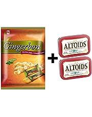 Agel y otros Juego de degustación de atloides, caramelos de jengibre con sabor a menta 125 g (1x125g) + bono de menta Altoids 50 g (2x50g)