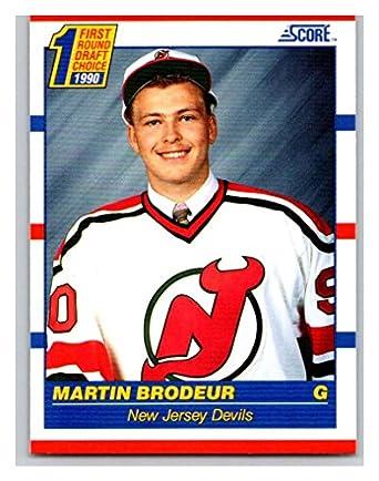 Amazon Com Hockey Nhl 1990 91 Score 439 Martin Brodeur 439 Nm Rc