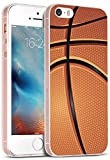 Iphone 5S Case Basketball MUQR Iphone SE 5S 5 Case Cover Silicone Rubber Protective Basketball Sport Design Pattern