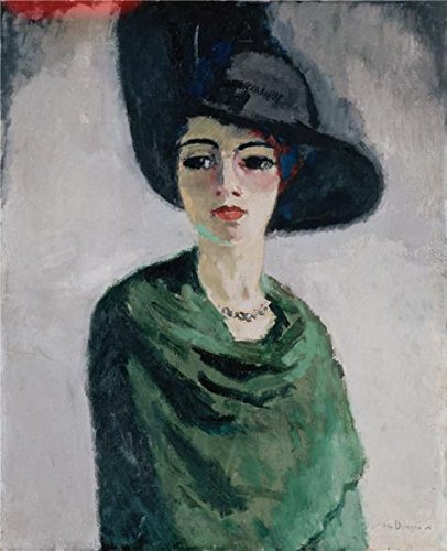 oil-painting-woman-in-a-black-hat1908-by-van-dongen-kees-12-x-15-inch-30-x-38-cm-on-high-definition-