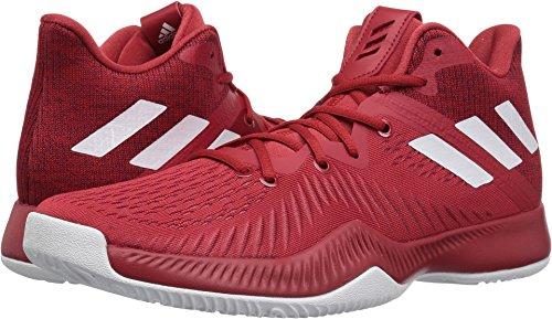 Adidas Heren Gek Bounce Basketbalschoen Macht Rood / Wit / Bordeaux