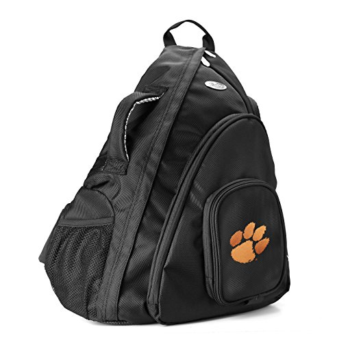 NCAA Clemson Tigers Sling Backpack, 19-Inch, Black
