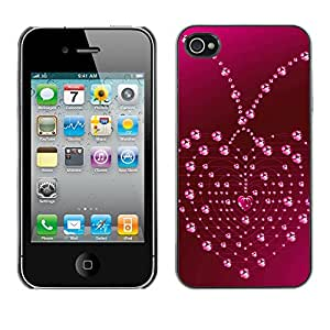 Paccase / SLIM PC / Aliminium Casa Carcasa Funda Case Cover - Love Heart Drops - Apple Iphone 4 / 4S
