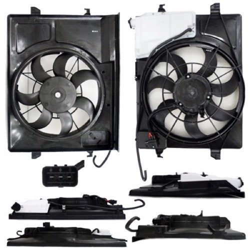 Go-Parts OE Replacement for 2010-2013 Kia Forte Engine/Radiator Cooling Fan Assembly - (Automatic Transmission) 25380 1M050 KI3115131