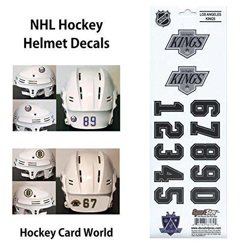 ((HCW) Los Angeles Kings SportsStar NHL Hockey Helmet Decals Sticker)