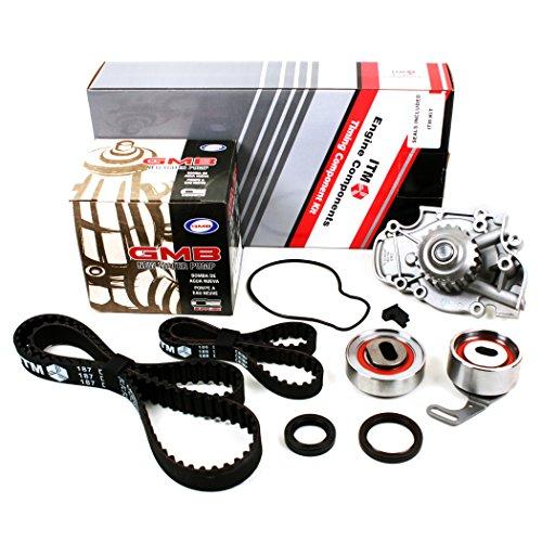 New ITM186WP (113 Round Teeth) Timing Belt Kit (w/ Cam & Crankshaft Front Seals) and Water Pump Set (GMB) for Honda 2.2L F22A F22B SOHC NON-VTEC Honda Balance Shaft Seal