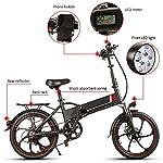 HUATXING-20-Pollici-Pieghevole-Bici-elettrica-di-Alimentazione-Assist-Bicicletta-elettrica-E-Bike-Scooter-350W-Motore-Siamesi-Rim-E-Bike-Bicicletta-Pieghevole