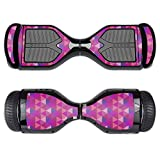 MightySkins Protective Vinyl Skin Decal for Swagtron T1 Hover Board Self Balancing Smart Scooter wrap cover sticker skins Pink Kaleidoscope