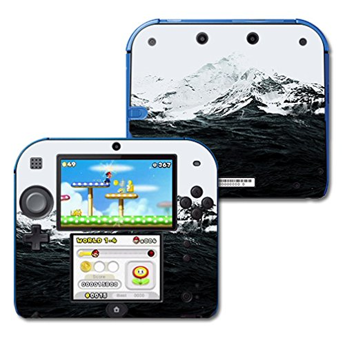 MightySkins Skin Compatible with Nintendo 2DS - Mountain Waves | Protective, Durable, and Unique Vinyl Decal wrap Cover | Easy to Apply, Remove, and Change Styles | Made in The USA