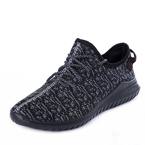 APOEMUO Mens Running Shoes Lightweight Fashion Sneakers Casual Sports Walking Shoes Breathable Athletic Black 39