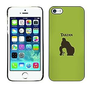 A-type Arte & diseño plástico duro Fundas Cover Cubre Hard Case Cover para iPhone 5 / 5S (Tarzn)