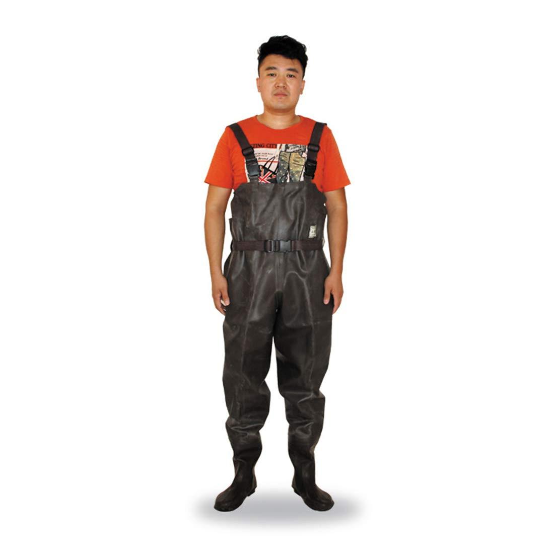 LBWNB Wader Pants-100% Wasserdichte PVC-Brustwarzen Fly Coarse Fishing Breathable Hunting Cultivation Stiefelfuß mit Gürtel B07Q9LTGT2 Regenhosen Auktion