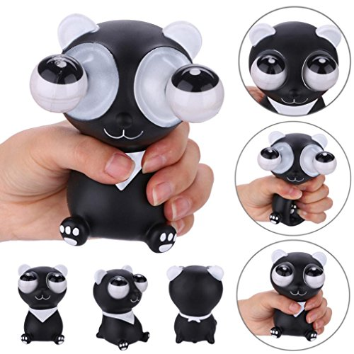 Panda & Pig Squishy Toys Jumbo Prime Cheap, Pop Eyes Out Squishy Squeeze Stress Relief Novelties Toys For Kids Boys Girls Autism Adults (Panda) (Eye Squeeze Ball)