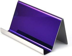 Enyuwlcm Metal Desktop Card Holder for Desk Business Card Display for Women Purple 1 Pack
