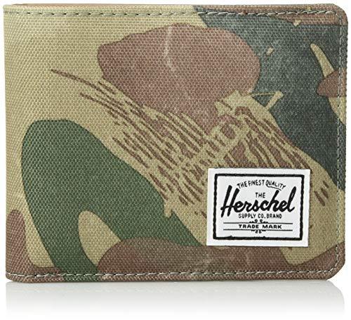 Herschel Supply Co. Men's Hank RFID, brushstroke camo, One Size (Camo Men Wallets For Leather)