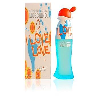 563709cdd0 Amazon.com : Moschino I Love Eau de Toilette Spray for Women, 3.4 Fluid  Ounce : Beauty