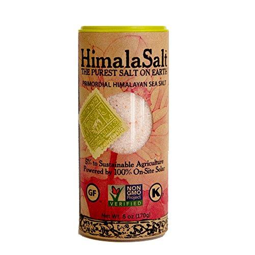 (HimalaSalt Primordial Himalayan Sea Salt, Fine Grain Shaker, 6)