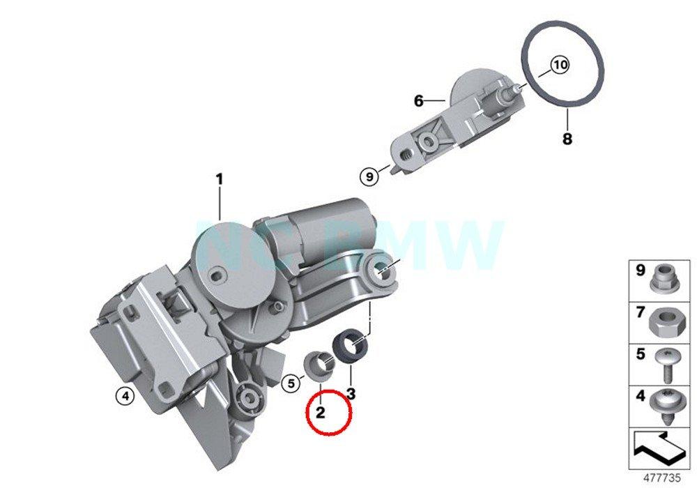 BMW - Motor de limpiaparabrisas trasero para BMW: Amazon.es: Coche y ...