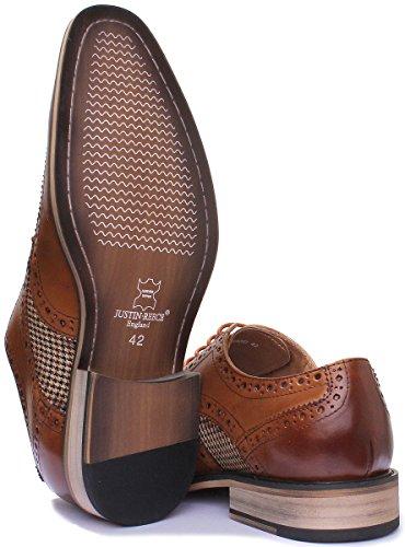homme Marron Chaussures pour ville Gerald Reece Justin à de lacets xq80zw