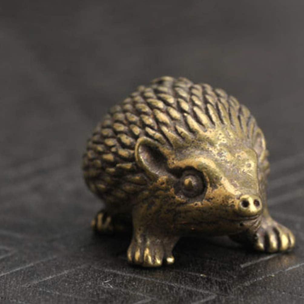 1 Pcs Brass Hedgehog Vintage Antique Statue Animal Doll Decoration Ornaments Art