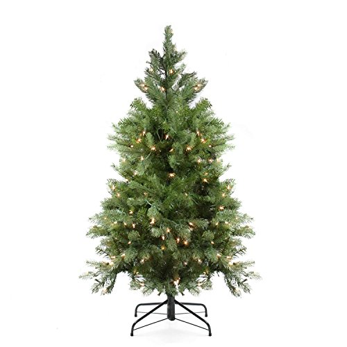 Northlight Pre-Lit Noble Fir Full Artificial Christmas Tree with Clear Lights, 4'