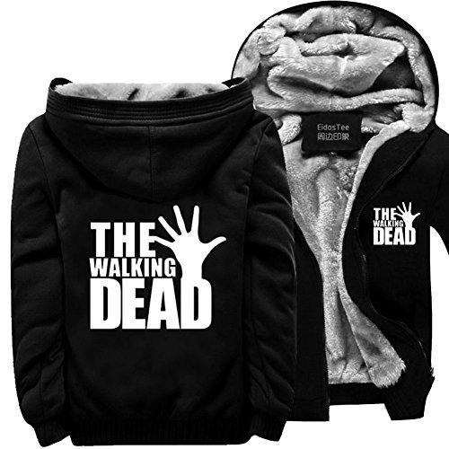 [XCOSER Walking Men's Dead Hoodie Daryl Dixon Cosplay Costume Thicken Fleece Jacket XXL] (Daryl Dixon Costumes)