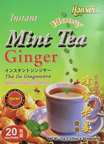 Honsei Instant MINT Ginger Honey Tea  15 G/0.525oz - Product