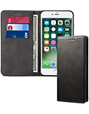 Wallet Case for IPhone 6/6P/7/7P/8/8P/XR/XS MAX/XS, Leather Flip Phone Cover with Card Holder