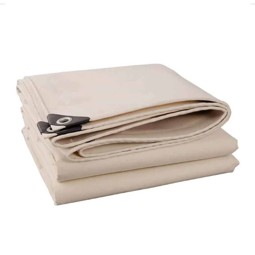 DALL ターポリン 防水 PVC 厚さ0.7mm 500G /㎡ ピクニック アウトドア 雨の布 トラックダストカバー 引裂抵抗 (Color : 白い, Size : 5×8m) 白い 5×8m