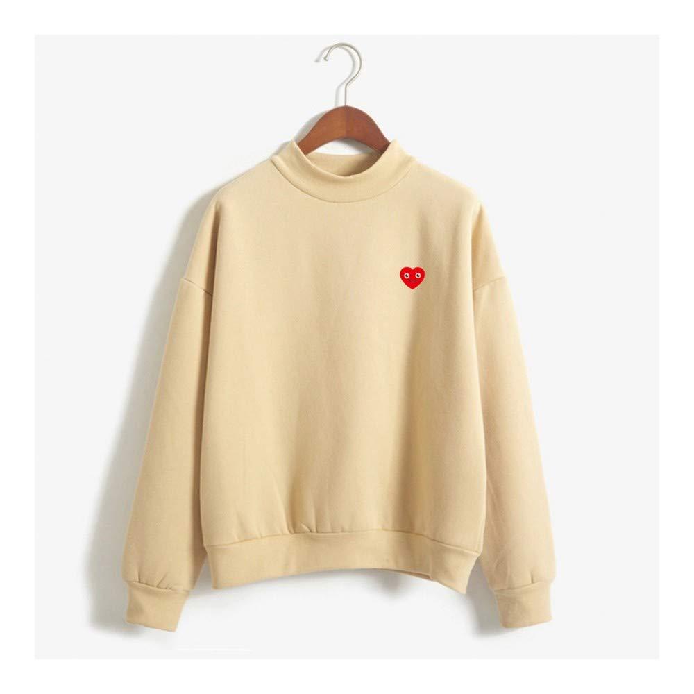 SWEAAY Herbst Winter Langarm Wenig Liebe Herz /Ästhetische Fleece Koreanische Dicke Sweatshirt Harajuku Frauen Hoodies