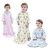 GEX Baby Sleep Sack 100% Cotton Wearable Blanket Baby Sleeping Bag Spring/Autumn Yellow Sheep 110 (3mos-6.5year)
