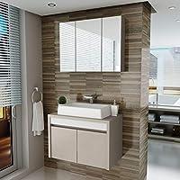 Gabinete para Banheiro 2 Portas com Cuba e Espelheira Paris Balcony Connect