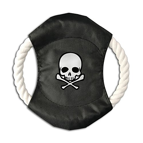 Pink Sky Skull Clipart Unique Pet Training Canvas Flying Discs Large Frisbee With Rope