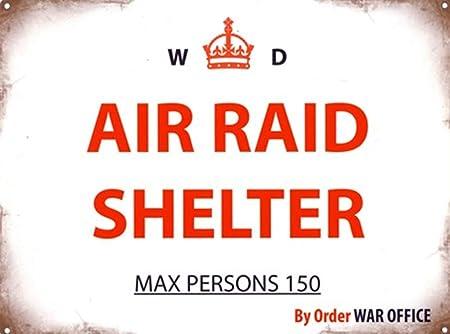 Hunnry Air Raid Shelter Retro Hierro Retro Pintura Arte de ...