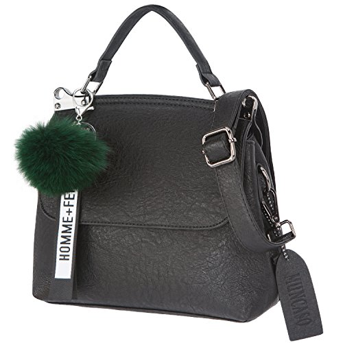 Genuine Women Handbag Ladies Muncaso Crossbody Satchel Bag Leather Black Bag Hobo 6fqHx4w