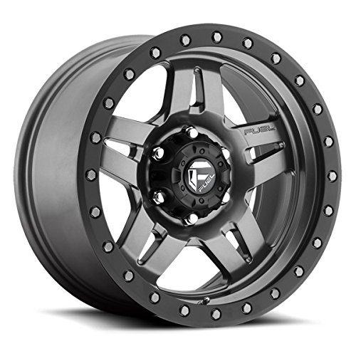 - Fuel Anza gun metal Wheel with Painted Finish (17 x 8.5 inches /5 x 5 inches, -6 mm Offset)