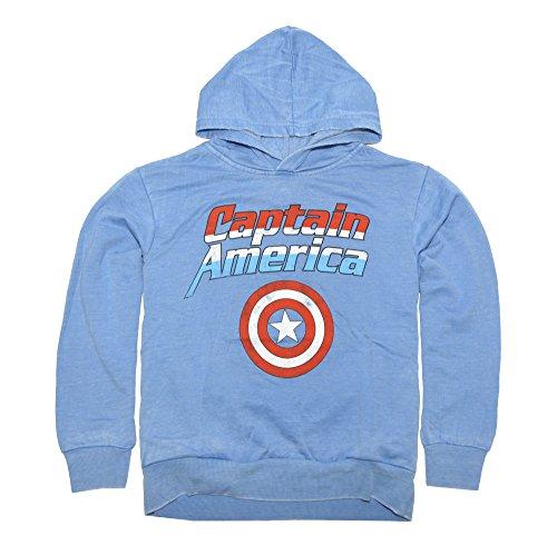 Marvel Big Boys' Captain America Shield Fleece Pullover, Royal Heather, M