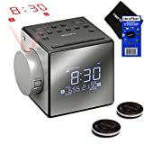NEW & IMPROVED - Sony Projector Dual Alarm Clock with Extendable Snooze, 5