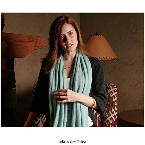 Amy Adams 8 Inch x10 Inch Photo Man of Steel American Hustle Enchanted Wearing Blue Scarf Over Black Sweater & White Blouse w/Head Tilted Right kn ()