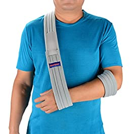 Arm Sling Shoulder Immobilizer- Adjustable Arm Support Strap for Broken Arm Immobilizer Wrist Elbow Support- Fits Both…