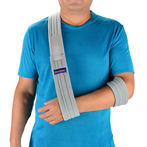 (Arm Sling Shoulder Immobilizer- Adjustable Arm Support Strap for Broken Arm Immobilizer Wrist Elbow Support- Fits Both Adults and Youths (Simple/Lightweight/Comfortable))