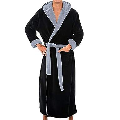 Peignoir De Bain Homme Grande Taille, Robe De Chambre à Capuche Veste  D IntéRieur 0c9fd7364c50