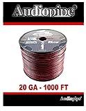 20 Gauge 1000' Speaker Cable Wire Copper Clad Red Black 12 Volt Audiopipe